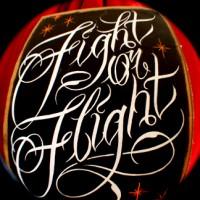 fight-or-flight-script-paint-on-wood